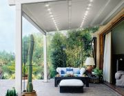 Retractable pergola by Almax