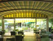 Motorized retractable roofs by Almax